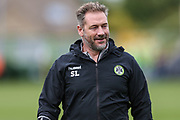 Forest Green Rovers assistant manager, Scott Lindsey during the EFL Sky Bet League 2 match between Forest Green Rovers and Port Vale at the New Lawn, Forest Green, United Kingdom on 8 September 2018.