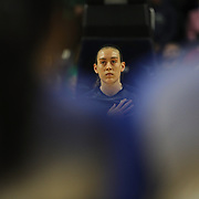 Breanna Stewart, UConn, during the National Anthem before the UConn Vs DePaul, NCAA Women's College basketball game at Webster Bank Arena, Bridgeport, Connecticut, USA. 19th December 2014