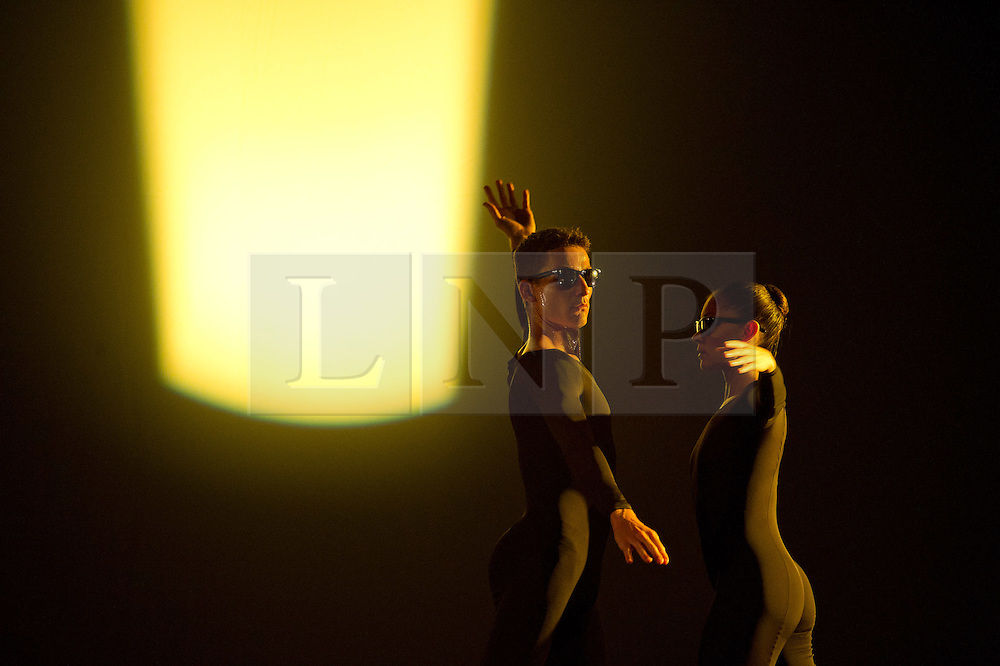 Licensed to London News Pictures. 05/10/2011. London, UK. Antic Meet, by visionary choreographer Merce Cunningham, performed one last time in the UK by the company he personally trained. Picture shows Merce Cunningham Dance Company. Photo credit : Tony Nandi/LNP