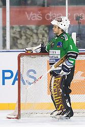 Ales Sila of Olimpija during ice hockey match between HDD Telemach Olimpija and HDD SIJ Acroni Jesenice at Winter Classic of HDD Telemach Olimpija called Pivovarna Union Ice Fest 2014, on December 18, 2014 on Republic Square, Ljubljana, Slovenia. (Photo By Matic Klansek Velej / Sportida.com)