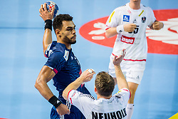 Adrien Dipanda of France during handball match between National teams of Austria and France on Day 3 in Preliminary Round of Men's EHF EURO 2018, on January 14, 2018 in Arena Zatika, Porec, Croatia. Photo by Ziga Zupan / Sportida