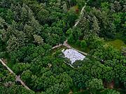 Nederland, Gelderland, Gemeente Ede, 09-06-2016; Nationaal Park De Hoge Veluwe, Museum Kroller-Muller (Kröller-Müller Museum). Beeldentuin met werk van Jean Dubuffet, Jardin d'émail.<br /> Sculpture garden Museum Kroller-Muller.<br /> luchtfoto (toeslag op standaard tarieven);<br /> aerial photo (additional fee required)<br /> copyright © 2020 foto/photo Siebe Swart