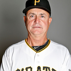 February 17, 2013; Bradenton, FL, USA;  Pittsburgh Pirates coach Dave Jauss (85) poses for photo day at Pirate City.  Mandatory Credit: Derick E. Hingle-USA TODAY Sports