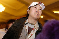 Chinese most famous rock star Cui Jian at the French panorama film festival, Beijing, China.