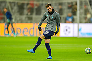 Tottenham Hotspur midfielder Giovani Lo Celso (18) warms up during the Champions League match between Bayern Munich and Tottenham Hotspur at Allianz Arena, Munich, Germany on 11 December 2019.
