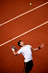 File Photo: Kellogg's initiate court proceedings to prevent Australian tennis player Thanasi Kokkinakis from using the nickname Special K.<br /> <br /> Novak Djokovic during the round three Men's singles match against Thanasi Kokkinakis on day seven of the French Open at Roland Garros on May 30, 2015 in Paris, France ... Tennis - 2015 French Open - Day Seven - Roland Garros ... 30-05-2015 ... Paris ... France ... Photo credit should read: Jon Buckle/EMPICS Sport. Unique Reference No. 23153388 ...