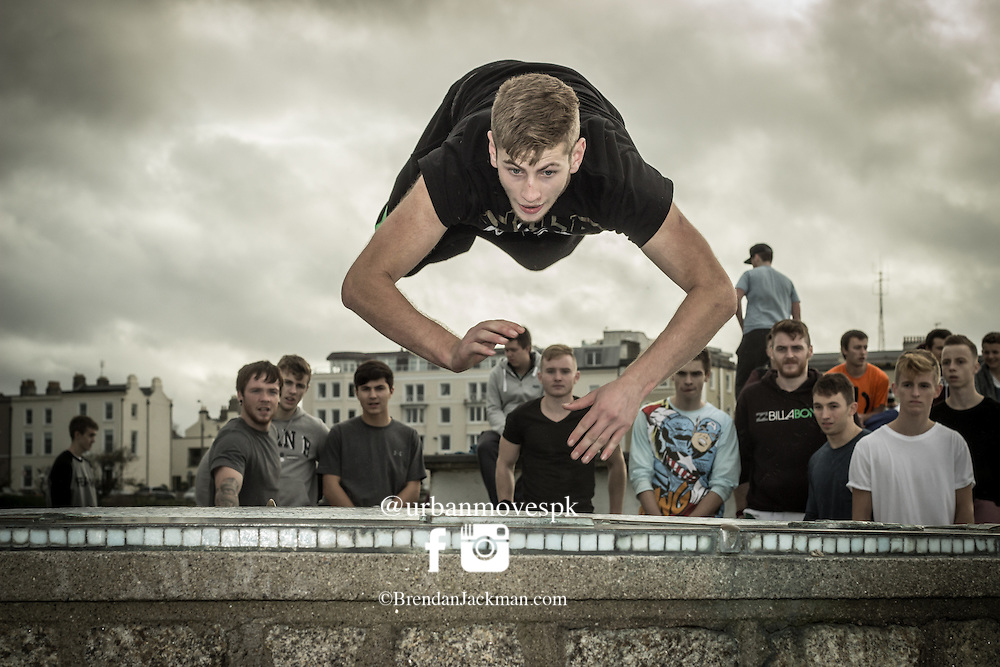 Waterford freerunner Keith Rellis at the FROM HERE TO THERE freerunning event in Dun Laoghaire. FROM HERE TO THERE - Freerunning Jam and documentary screening, Dublin, Ireland hosted by Jesse La Flair and Pasha Petkuns. From Here To There jam photo shoot Dublin, Ireland with Jesse LaFlair and Pacha Petkuns. #GoingOTE #FH2Tdoc