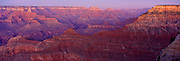 Pannorama of the Grand Canyon at t wilight from Mather Point
