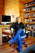 Top selling author Karin Slaughter does all her writing in a cabin in Epworth, Georgia. Her father Howard built the 2,400 square foot cabin for her. Photographed June 13, 2010..CREDIT: Kendrick Brinson/LUCEO.KarinSlaughter