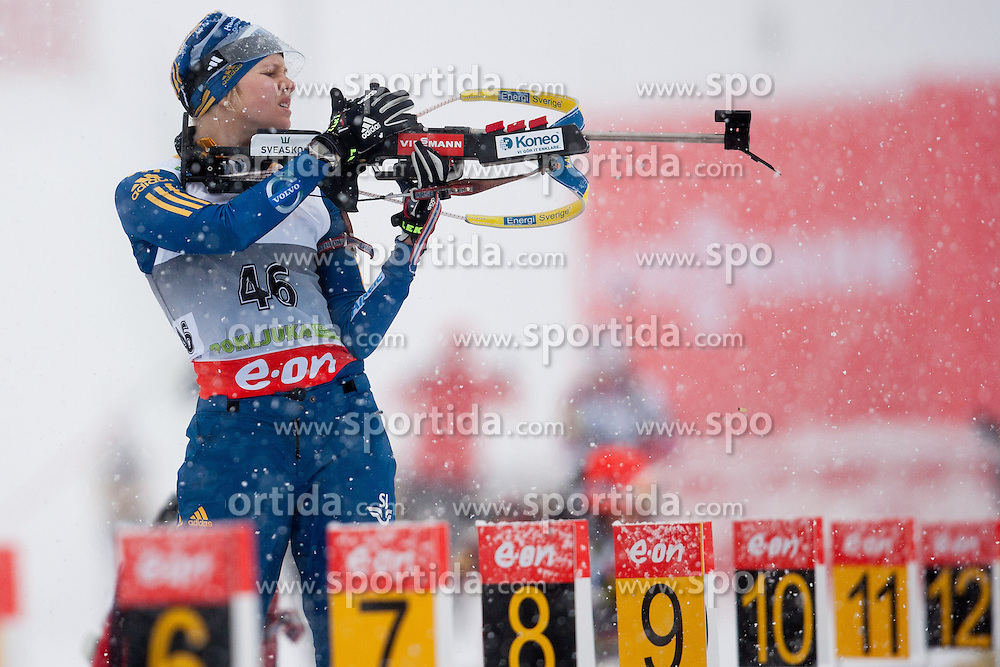 competes during Ladies 7,5 km Sprint of the e.on IBU Biathlon World Cup on Thursday, December 14, 2012 in Pokljuka, Slovenia. The third e.on IBU World Cup stage is taking place in Rudno polje - Pokljuka, Slovenia until Sunday December 16, 2012. (Photo By Vid Ponikvar / Sportida.com)