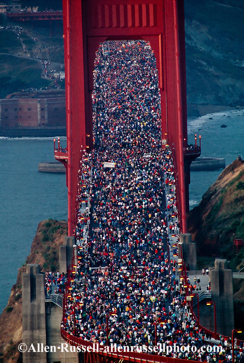 Golden Gate Bridge 50th anniversary celebration, 1987, San Francisco, California