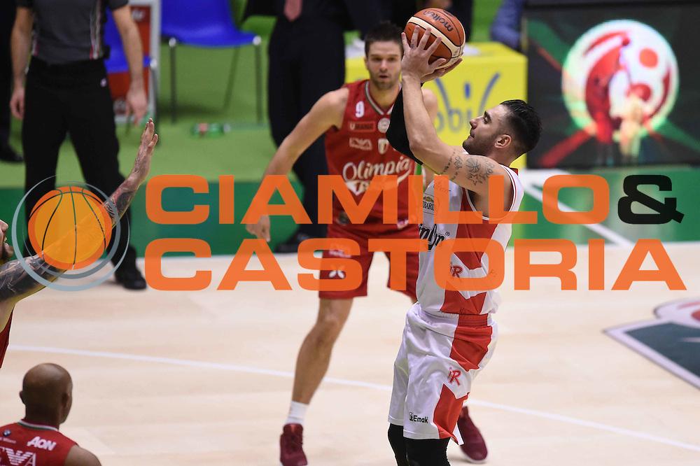 Pietro Aradori<br /> Grissin Bon Pallacanestro Reggio Emilia - EA7 Emporio Armani Olimpia Milano<br /> Poste Mobile Final Eight F8 2017 <br /> Lega Basket 2016/2017<br /> Rimini, 18/02/2017<br /> Foto Ciamillo-Castoria
