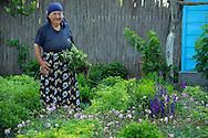 Farm lady, Letea, Danube delta rewilding area, Romania