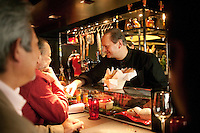 Atelier de Joel Robuchon: Chef Robuchon with customers