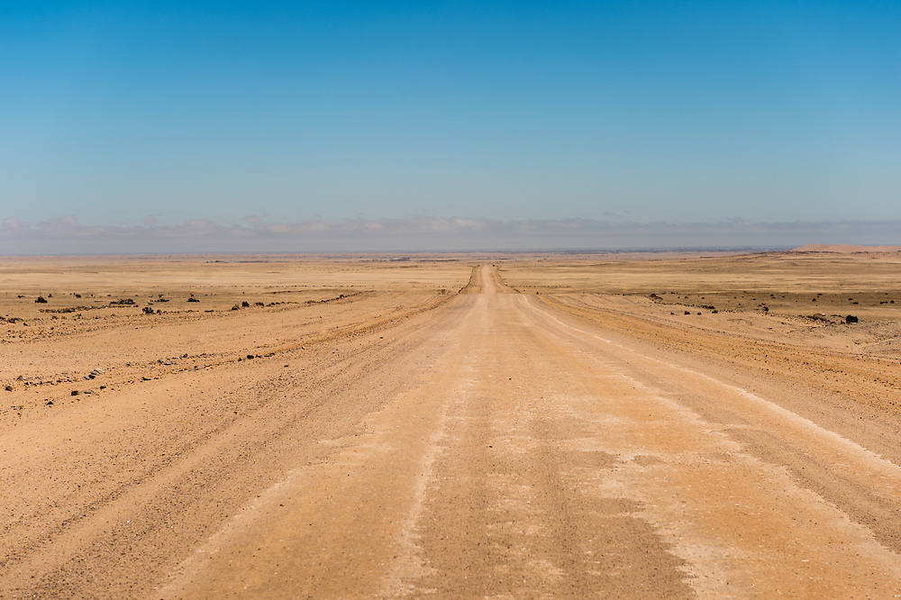 , Namibia, Africa - Looking down the long road to Sossusvlei