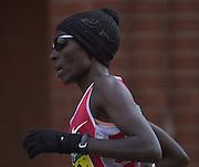 London Marathon, London, GREAT BRITAIN, location, Isle of Dogs.  .Race No. 102 CATHERINE. NDEREBA KEN, Narrow Street. E1. © Peter Spurrier/Intersport Image/+447973819551