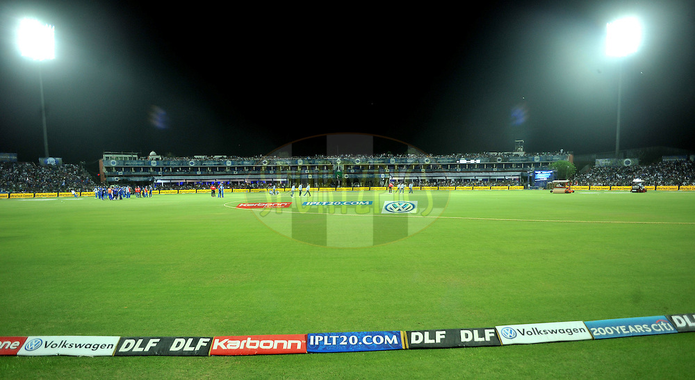 during match 72 of the the Indian Premier League ( IPL) 2012  between The Rajasthan Royals and the Mumbai Indians  held at the Sawai Mansingh Stadium in Jaipur on the 20th May2012..Photo by Sandeep Shetty/IPL/SPORTZPICS