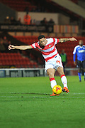 Nathan Tyson of Doncaster Rovers  during the Sky Bet League 1 match between Doncaster Rovers and Chesterfield at the Keepmoat Stadium, Doncaster, England on 24 November 2015. Photo by Ian Lyall.
