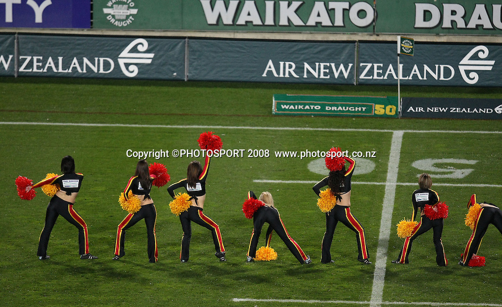Pre match entertainment cheerleaders. Air NZ Cup, Waikato v Auckland, Waikato Stadium, Hamilton, Saturday 30 August 2008. Waikato won 34-13. Photo: Stephen Barker/PHOTOSPORT