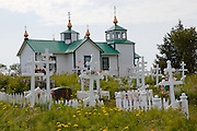 Transfiguration of Our Lord Church.  Russian Orthodox.  Ninilchik, Alaska.  USA.