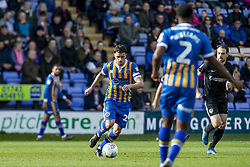 March 23, 2019 - Meadow, Shropshire, United Kingdom - Oliver Norburn of Shrewsbury Town on the ball during the Sky Bet League 1 match between Shrewsbury Town and Portsmouth at Greenhous Meadow, Shrewsbury on Saturday 23rd March 2019. (Credit Image: © Mi News/NurPhoto via ZUMA Press)