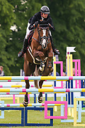 Vegas Des Boursons ridden by Maxime Livio in the Equi-Trek CCI-4* Show Jumping during the Bramham International Horse Trials 2019 at Bramham Park, Bramham, United Kingdom on 9 June 2019.
