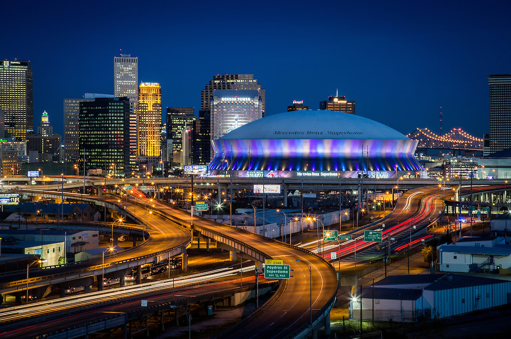 This is the Mercedes-Benz Superdome in New Orleans.<br />
