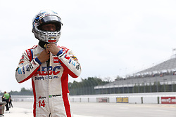 August 18, 2018 - Long Pond, Pennsylvania, United Stated - TONY KANAAN (14) of Brazil hangs out on pit road prior to practice for the ABC Supply 500 at Pocono Raceway in Long Pond, Pennsylvania. (Credit Image: © Justin R. Noe Asp Inc/ASP via ZUMA Wire)