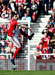 Alvaro Negredo of Middlesbrough controls the ball - Mandatory by-line: Robbie Stephenson/JMP - 19/03/2017 - FOOTBALL - Riverside Stadium - Middlesbrough, England - Middlesbrough v Manchester United - Premier League