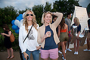 MELISSA ODABASH; SIDNEY FINCH, Chucs Dive & Mountain Shop charity Swim Party: Lido at The Serpentine. London. 4 July 2011. <br /> <br />  , -DO NOT ARCHIVE-© Copyright Photograph by Dafydd Jones. 248 Clapham Rd. London SW9 0PZ. Tel 0207 820 0771. www.dafjones.com.