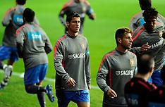 20111010 Portugal træner i Parken før fodboldlandskamp mod Danmark