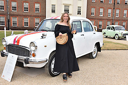 Ayesha Shand at the Concours d'éléphant in aid of Elephant Family held at the Royal Hospital Chelsea, London, England. 28 June 2018.