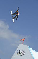 February 12, 2018 - Pyeongchang, South Korea - ELENA KOENZ of Switzerland during a run at the Womens Snowboard Slopestyle finals at Phoenix Snow Park at the Pyeongchang Winter Olympic Games. Koenz place 10th. Photo by Mark Reis, ZUMA Press/The Gazette (Credit Image: © Mark Reis via ZUMA Wire)