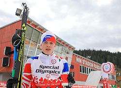 17.03.2017, Ramsau am Dachstein, AUT, Special Olympics 2017, Wintergames, Langlauf, Divisioning 5 km Freestyle, im Bild Anton Shamshurin (RUS) // during the Cross Country Divisioning 5 km Freestyle at the Special Olympics World Winter Games Austria 2017 in Ramsau am Dachstein, Austria on 2017/03/17. EXPA Pictures © 2017, PhotoCredit: EXPA / Martin Huber