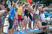 ELLA NICKERSON, Chucs Dive & Mountain Shop charity Swim Party: Lido at The Serpentine. London. 4 July 2011. <br /> <br />  , -DO NOT ARCHIVE-© Copyright Photograph by Dafydd Jones. 248 Clapham Rd. London SW9 0PZ. Tel 0207 820 0771. www.dafjones.com.