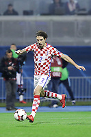 ZAGREB, CROATIA - NOVEMBER 09: Sime Vrsaljko of Croatia controls the ball during the FIFA 2018 World Cup Qualifier play-off first leg match between Croatia and Greece at Maksimir Stadium on November 9, 2017 in Zagreb, Croatia. (Luka Stanzl/PIXSELL)
