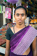 KADIRI, INDIA - 03rd November 2019 - Portrait of shop keeper at a market stall in Kadiri, Andhra Pradesh, South India