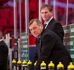 03.05.2013, Globe Arena, Stockholm, SWE, IIHF, Eishockey WM, Tschechische Republik vs Weissrussland, im Bild (CZE) Head Coach Alois Hadamczik // during the IIHF Icehockey World Championship Game between Czech Republic and Belarus at the Ericsson Globe, Stockholm, Sweden on 2013/05/03. EXPA Pictures © 2013, PhotoCredit: EXPA/ PicAgency Skycam/ Johan Andersson..***** ATTENTION - OUT OF SWE *****