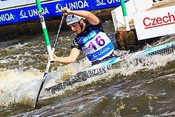 Bizjak Nina (SLO) competes in Semi-Finals during Day 2 of 2018 ECA Canoe Slalom European Championships, on June 2nd, 2018 in Troja , Prague, Czech Republic. Photo by Grega Valancic / Sportida