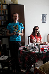 Barcelona,Spain<br /> Genis Segarre y Carlos Ballesteros from the band Hidrogenesse at home<br /> &copy;Carmen Secanella