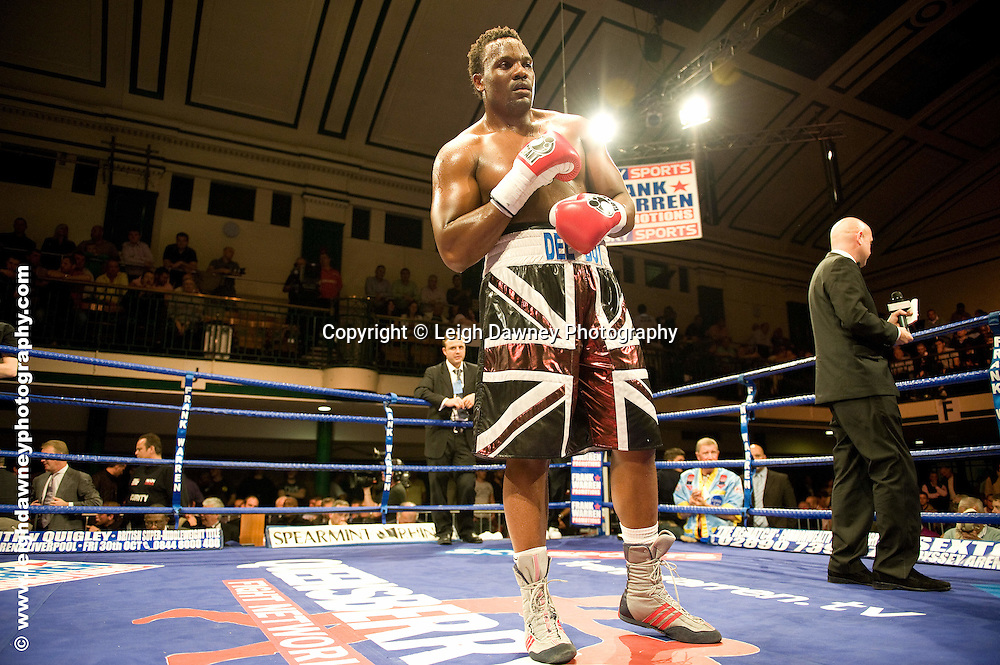 Derek Chisora defeats Zurab Noniashvili at York Hall, Bethnal Green 9th ocotber 2009. Frank Warren Promotions.Credit: ©Leigh Dawney Photography