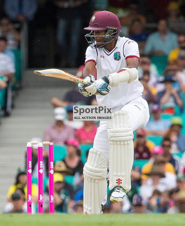 3rd Test Match 2015-16 Day 1, Australia v West Indies, Sydney Cricket Ground; 3 January 2016<br /> West Indian Kraigg Brathwaite edges closer to 50 after a cut shot for four.