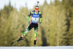 Roman Yaliotnau (BLR) during Men 10 km Sprint of the IBU Biathlon World Cup Pokljuka on Thursday, December 16, 2015 in Pokljuka, Slovenia. Photo by Ziga Zupan / Sportida