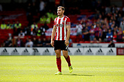 Jack O'Connell of Sheffield United during the Premier League match between Sheffield United and Crystal Palace at Bramall Lane, Sheffield, England on 18 August 2019.