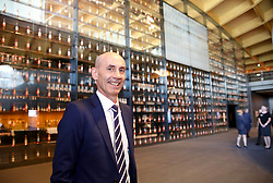EMBARGOED: 00.01 TUE 22052018<br /> Ian Curle, chief executive of Edrington Group, owner of The Macallan at the gallery archive of almost 400 bottles of the Macallan whisky in the new distillery and visitor centre on the Easter Elchies Estate, Speyside. Pic copyright Terry Murden @edinburghelitemedia  <br /> EMBARGOED: 00.01 TUE 22052018