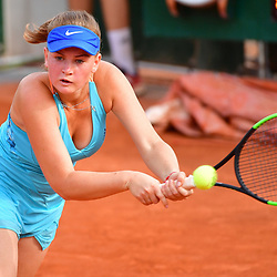 Taisya Pachkaleva of Russia (Girls' Tournament) during Day 8 of the French Open 2018 on June 3, 2018 in Paris, France. (Photo by Dave Winter/Icon Sport)