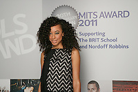 Corinne Bailey Rae, the 2011 MITs Award. Held at the Grosvenor Hotel London in aid of Nordoff Robbins and the BRIT School. Monday, Nov.7, 2011