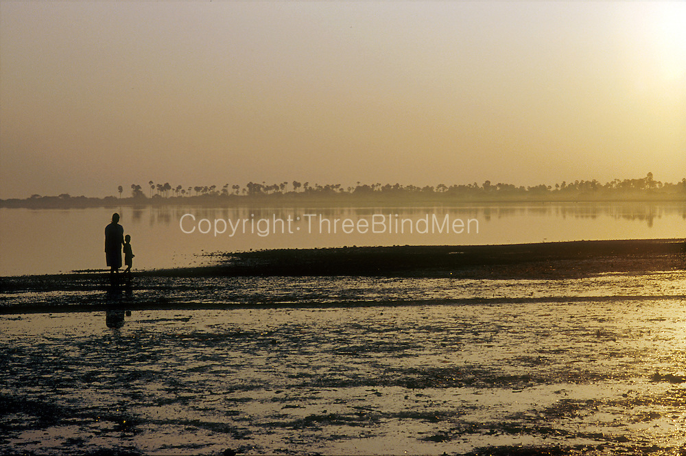 Dawn over Jaffna lagoon photographed from the island of Kayts.