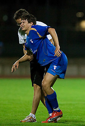 Etien Velikonja of Gorica injured at 1st football match of 2nd preliminary Round of UEFA Europe League between ND Gorica and FC Lahti, on July 16 2009, in Nova Gorica, Slovenia. (Photo by Vid Ponikvar / Sportida)
