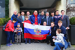 March 21, 2019 - Today, March 21 at the stadium King Baudouin in Brussels will be held a qualifying match of the European Championship in 2020 between the national teams of Russia and Belgium. Our cheer and wish them only victory! Mission of Russia EU via globallookpress.com (Credit Image: © Russian Look via ZUMA Wire)